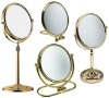 Golden Standing Cosmetic Mirror