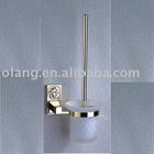 Bathroom Accessories-gold plating-Toilet brush and holder