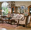European antique style Coffee brown color Living room sofa sets furniture OMJ-ED108