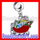 Enamel Christmas Santa Sleigh Charms FA0124