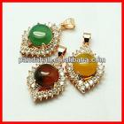 Natural Agate Drop Pendants(G-C028-M3)