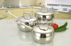 6piece surgical stainless steel belly shaped cookware set (XM2036)
