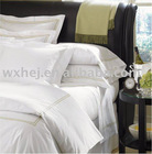 hot sale 100%cotton hotel white sateen embroidery duvet covers