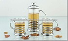 stainless steel tea pot set
