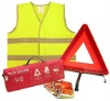 CAR SAFTY SET WITH TRIANGE AND REFLECTIVE VEST
