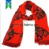 100% wool long scarf
