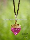 Small Heart shaped glass bottle for perfume