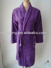 solid colour super soft microfiber bathrobe