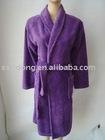 solid colour super soft microfiber bathrobe
