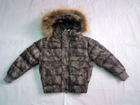 Wholesale & Retail Girls Fur Hooded Down Coat/jacket--Camouflage