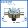 TV Female to 2TV Male connector