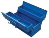 3 tray steel blue tool box
