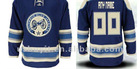 Blue Columbus Custom Third Blue Authentic Jersey Free Shipping Wholesale Mix Order