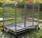 folding metal dog cage with wheels