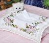 fabric handmade diy embroidery tissue box