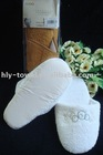 white with hot fax indoor cotton slipper