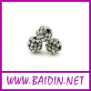 Shamballa black alloy beads wholesale