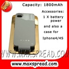 hottest mobile power bank 1800mAh for apple iphone