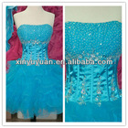 2012 Sexy Stylish Mini Blue Beaded Layered Puffy Party Dress Cocktail Dresses TP-003