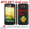 4.5 inch 960x540 screen MTK6577 phone One X with 3G