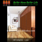 cabinet door with sliding system