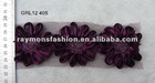 embroidery designs purple flowers rose