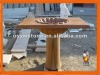 Carved Natural Stone Basin With Mirror Fram