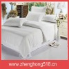 2012 newest 100% cotton white bed sheet(0883)