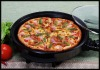 Electric Pizza Pan 2 layer non-stick coating with adjustable temperature knob