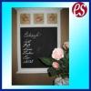 Mini kids rose-themed wood blackboard