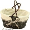 Perfect Dark Brown Willow Basket PC