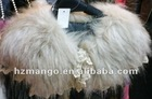 2012 latest fashion fur scarf with lace decorate