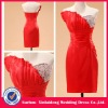 YD-12061164 Asymmetrical Neckline 2012 Red Bridesmaid Dress