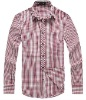 Men's Stylish Plaids Long Sleeve Cotton Shirt