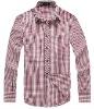 Men's Stylish Plaids Long Sleeve Cotton Shirt