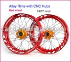 CNC Wheel Rim pit bike / dirt bike aluminum wheels / rims