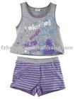 flower girls 2pcs children clothing/child garment