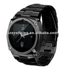 Steel TW818 Watch Mobile Phone 1.6 inch Touch Screen GSM Quad Band Camera Bluetooth Silver/Black