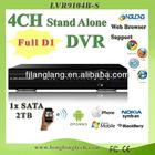 full d1 4 channel high quality DVR(9104B-S)