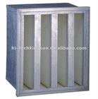 Aluminum frame V-bank filter