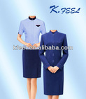 2012 Bule Elegant Hotel Design Uniforms for Ladies