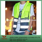 Fluorescence Green reflectitive material workwear vests