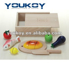 wooden food box toys for children