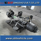 Semi Trailer steering axle with air suspension