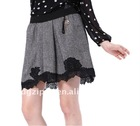 2012 newest Europe black lace short mini skirt
