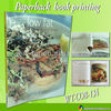 Art paper home recipes book printing WT-COB-134