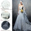 S1261 Vintage Lace Appliques Real Photo Swarovski Crystal Wedding Dress Patterns