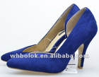 Sexy high heel blue shoes for lady 2012 new style