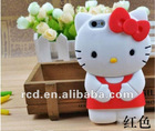 3D hello kitty Soft rubber protector case cover for iphone 5 5G