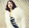 2012 Women's fashion white mongolian lamb fur coat